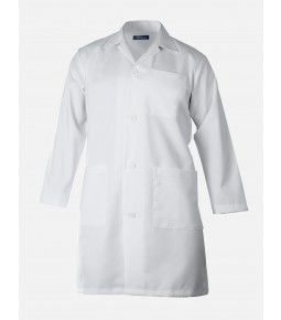 ULTIMA® White Labcoat with Button